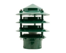Three Tier Bollard Head Post Top Light Green - 10703