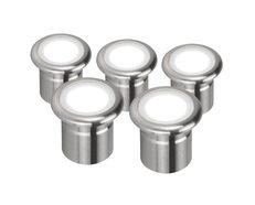 VIVID-5PK Five Pack 12V 3W LED Deck Lights - Stainless Steel Finish / White LED