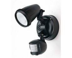 Illume 10 Watt Single LED Spotlight with Sensor Black / Cool White - ILLUME EX1S-BK