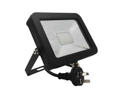 Adjustable Slim 240V 30W LED Floodlight - Black Finish / Natural White LED - Tablet2B