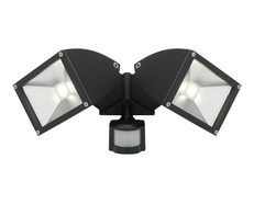Zone 2 22W LED Exterior Twin Flood Light With Sensor Black - MX7862/SEN/BLK