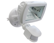 Floodlight With Sensor White - QLB150S/WHT