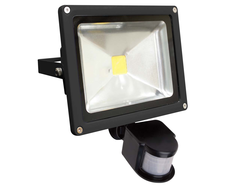 LED 20W Floodlight With Sensor Black - FL20BS