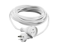 Mains Power Extension Lead Cord With handy Plug White - 10 Meter