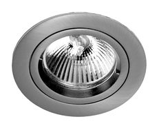 Fixed 240V GU10 Downlight Satin Chrome - DLM21