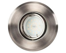 Luta 5 Watt 12V Adjustable LED In-Ground Upligher Round 316 Stainless Steel / Warm White - HV1825W