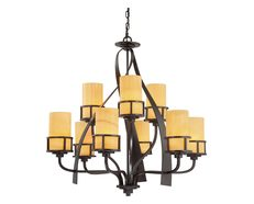 Kyle 9 Light Chandelier Imperial Bronze - QZ/KYLE9