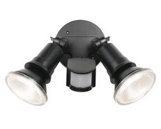 Comet 10 Watt Twin LED Floodlight with Sensor Black / Cool White - COMET EX2S-BK