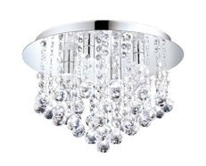 Almonte 10W LED Semi Flush Mount Light Chrome / Warm White - 94878