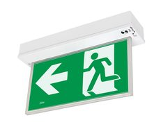 Blade LED Surface Exit Sign With Emergency Downlight White - 19880/05