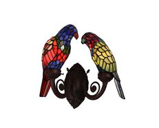 Tiffany Parrot Wall Lamp - A027W