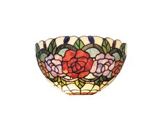Red Rose Tiffany Wall Lamp - TL-W3065