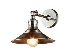 Bristol 1 Light Wall Lamp Antique Silver - ELPIM59922AS