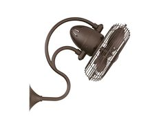 Melody Oscillating Wall Fan Metal Blades With Cage Textured Bronze - ME-TB