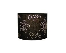 "Lucille Laser-cut Floral 10"" Drum Shade Black - OL91819"
