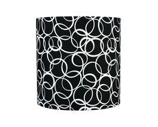 "Kool White Circles 12"" Drum Shade Black - SH-12-12-12 P BK/WH"