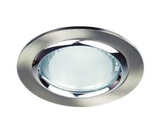 Vida 120 Glass Covered Recessed Downlight Brushed Chrome - LF4593BCH