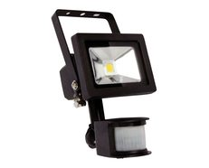 Foco 10 Watt LED Flood Light with Sensor Black / Cool White - LW7411BK