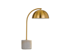 Ortez Table Lamp White Marble / Antique Gold - ORTEZ TL-WH+AG