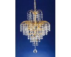 Cascade 4 Light Chandelier Small Gold - Cascade PE33-GD