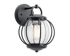 Vandalia 1 Light Wall Lantern Textured Black - KL/VANDALIA2/S