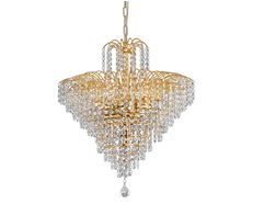 Cascade 8 Light Chandelier Large Gold - Cascade PE53-GD