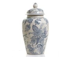 Imperial Ginger Jar With Lid Blue & White
