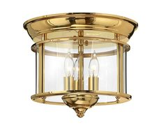 Gentry Flush Mount Polished Brass - HK/GENTRY/F PB