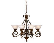 Ashley 8 Light Chandelier Antique Brass - MC3728AB
