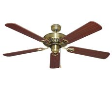 "Hayman 5 Blade AC 1300mm 52"" Ceiling Fan Antique Brass - FC050135AB"