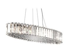 Crystal Skye 28W LED Island Chandelier Chrome / Warm White - KL/CRSTSKYE/ISLE