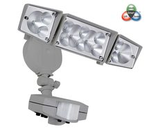 Smart Double LED Floodlight With Sensor Silver - FLLED6155S