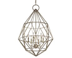 Marquise 6 Light Chandelier Burnished Silver