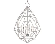 Marquise 6 Light Chandelier Silver