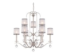 Whitney 9 Light Two Tier Chandelier Imperial Silver - QZ/WHITNEY9