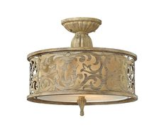 Carabel Small Semi Flush Brushed Champagne - HK/CARABEL/SF/S