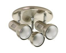Three Light Spotlight Satin Chrome - EX3003R