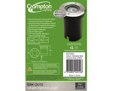 Inground Garden Uplights Stainless Steel - EX7005