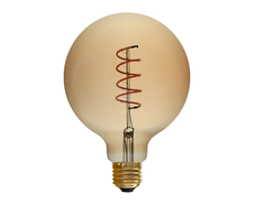 Vintage 4W E27 LED G125 Dimmable Amber Spiral Filament Bulb