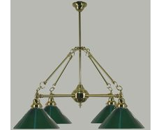 "Burnley 4 Light 1/2"" B & B Pendant (PB)"