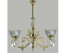 Crystal Yarra 3 Light Chandelier (PB)
