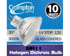 Halogen Low Voltage Dichroic MR11 10W 30° Lamp