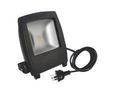 LED Floodlight 15 Watt Square Faced - Charcoal Black