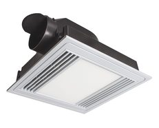 Tercel Square Exhaust Fan With 13W LED White / Cool White - 18192/05