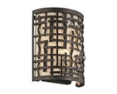 Loom 1 Light Wall Light Olde Bronze - KL/LOOM1