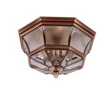 Newbury Flush Mount Aged Copper - QZ/NEWBURY/F AC