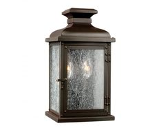 Pediment Small Wall Lantern Dark Aged Copper - FE/PEDIMENT/S