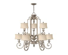 Kingsley 9 Light Chandelier Silver Leaf - HK/KINGSLEY9