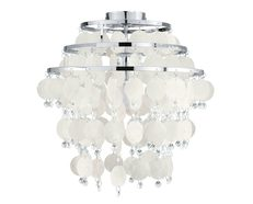 Chipsy 1 Light Flush Ceiling Light Chrome - 90221