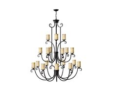 Casa 18 Light Chandelier Olde Black - U/HK/4309OL